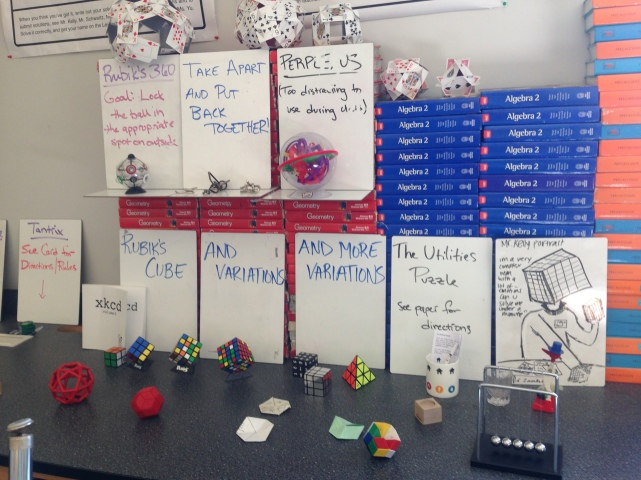 A snapshot of my classroom from 2013–2014.