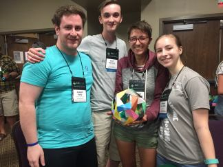 I built an origami dodecahedron with 2 high school students and a college senior.