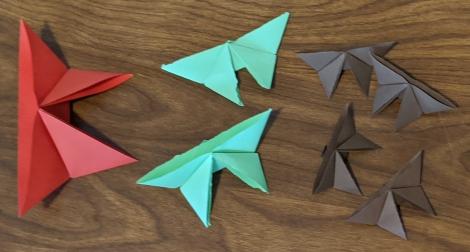 9. Origami Butterflies